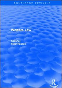 Cover of the book Welfare Law
