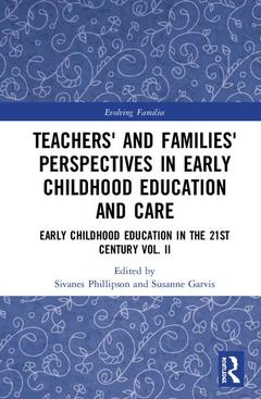 Couverture de l'ouvrage Teachers' and Families' Perspectives in Early Childhood Education and Care