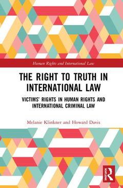 Cover of the book The Right to Truth in International Law