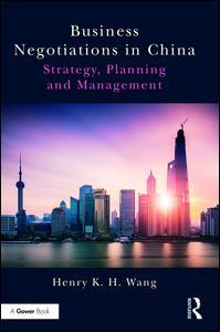 Cover of the book Business Negotiations in China