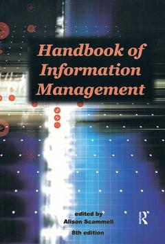 Cover of the book Handbook of information mnangement