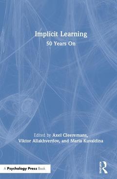 Couverture de l'ouvrage Implicit Learning