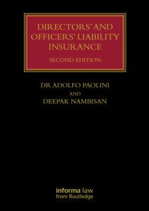 Couverture de l'ouvrage Directors' and Officers' Liability Insurance