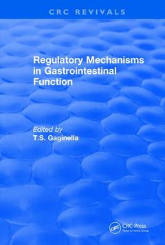 Couverture de l'ouvrage Revival: Regulatory Mechanisms in Gastrointestinal Function (1995)