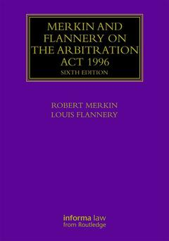 Couverture de l'ouvrage Arbitration Act 1996