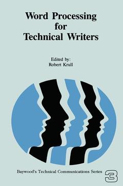 Cover of the book Word Processing for Technical Writers