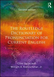 Couverture de l'ouvrage The Routledge Dictionary of Pronunciation for Current English