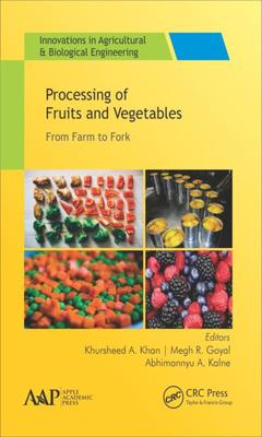Couverture de l'ouvrage Processing of Fruits and Vegetables