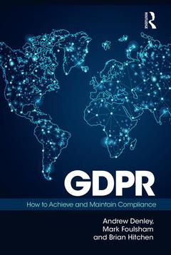 Couverture de l'ouvrage GDPR