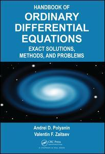 Couverture de l'ouvrage Handbook of Ordinary Differential Equations