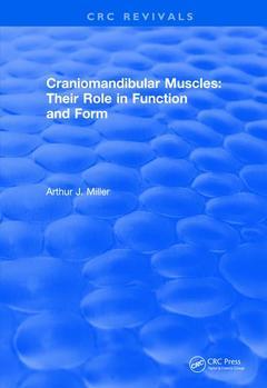 Couverture de l'ouvrage Revival: Craniomandibular Muscles (1991)