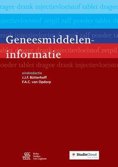 Couverture de l'ouvrage Geneesmiddeleninformatie
