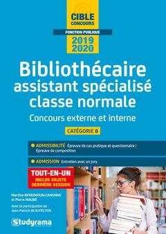 Couverture de l'ouvrage Bibliothecaire assistant specialise classe normale