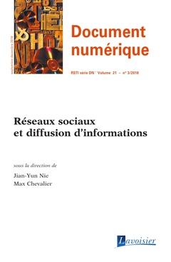 Couverture de l'ouvrage Réseaux sociaux et diffusion d'informations
