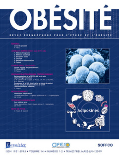 Couverture de l'ouvrage Obésité. Vol. 14 N° 1-2 - Mars-Juin 2019