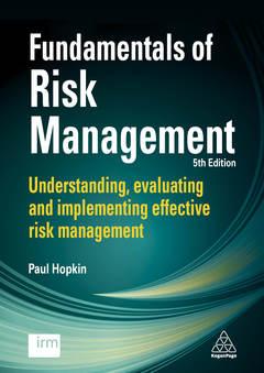 Couverture de l'ouvrage Fundamentals of Risk Management, 5th Ed