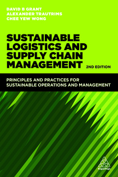 Couverture de l'ouvrage Sustainable Logistics and Supply Chain Management