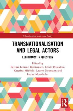 Cover of the book Transnationalisation and Legal Actors