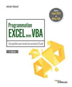 Couverture de l'ouvrage Programmation Excel avec VBA