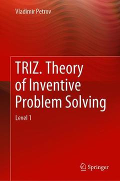 Couverture de l'ouvrage TRIZ. Theory of Inventive Problem Solving