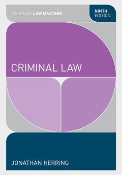 Couverture de l'ouvrage Criminal Law (9th Ed.)