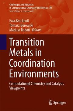 Couverture de l'ouvrage Transition Metals in Coordination Environments