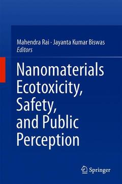 Couverture de l'ouvrage Nanomaterials: Ecotoxicity, Safety, and Public Perception