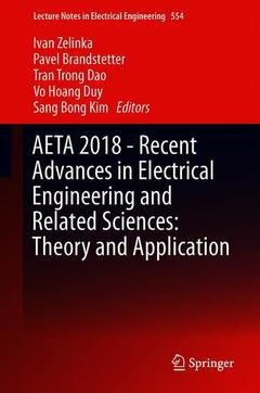 Couverture de l'ouvrage AETA 2018 - Recent Advances in Electrical Engineering and Related Sciences: Theory and Application
