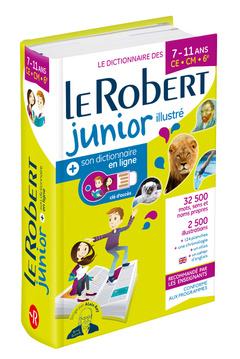 Couverture de l'ouvrage Dictionnaire Le Robert Junior illustré et son dictionnaire en ligne - 7/11 ans - CE-CM-6e