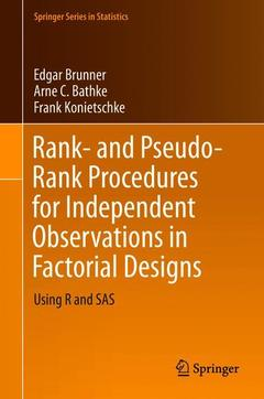 Couverture de l'ouvrage Rank- and Pseudo-Rank Procedures for Independent Observations in Factorial Designs