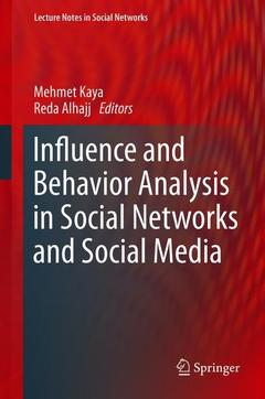 Couverture de l'ouvrage Influence and Behavior Analysis in Social Networks and Social Media