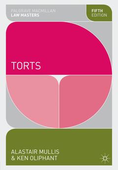Couverture de l'ouvrage Torts (5th Ed.)