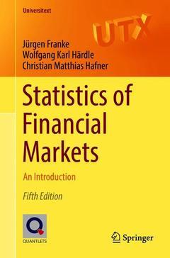 Couverture de l'ouvrage Statistics of Financial Markets