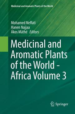 Couverture de l'ouvrage Medicinal and Aromatic Plants of the World - Africa Volume 3