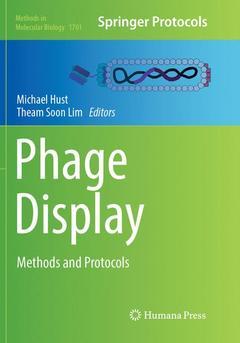 Couverture de l'ouvrage Phage Display