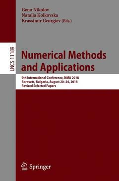 Couverture de l'ouvrage Numerical Methods and Applications