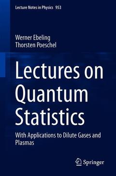 Cover of the book Lectures on Quantum Statistics