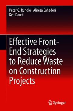 Cover of the book Effective Front-End Strategies to Reduce Waste on Construction Projects