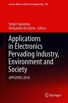 Cover of the book Applications in Electronics Pervading Industry, Environment and Society