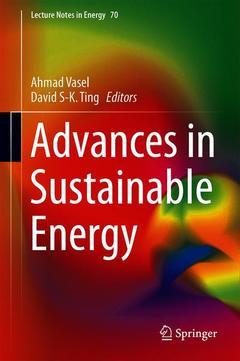 Couverture de l'ouvrage Advances in Sustainable Energy