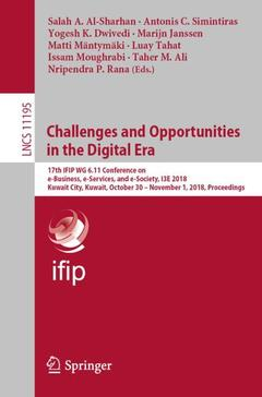 Couverture de l'ouvrage Challenges and Opportunities in the Digital Era
