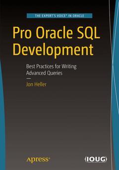 Couverture de l'ouvrage Pro Oracle SQL Development
