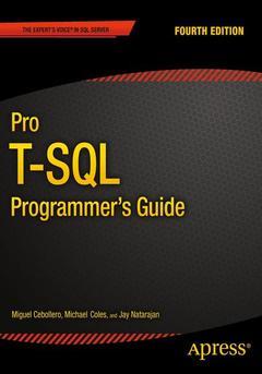 Couverture de l'ouvrage Pro T-SQL Programmer's Guide