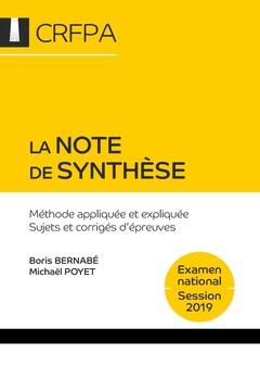 Couverture de l'ouvrage La note de synthèse