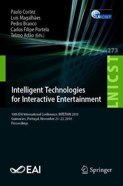 Couverture de l'ouvrage Intelligent Technologies for Interactive Entertainment