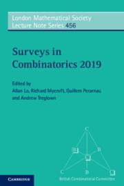 Couverture de l'ouvrage Surveys in Combinatorics 2019