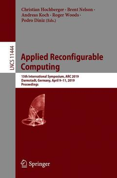 Couverture de l'ouvrage Applied Reconfigurable Computing