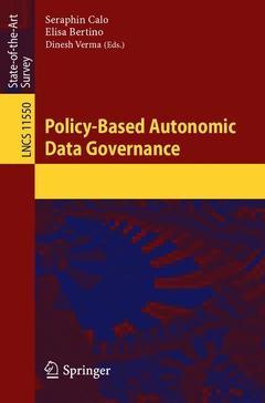 Couverture de l'ouvrage Policy-Based Autonomic Data Governance
