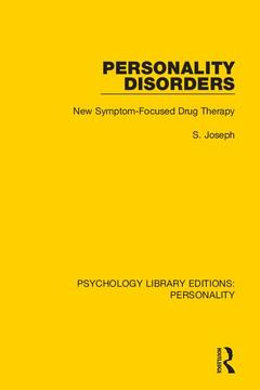 Couverture de l'ouvrage Personality Disorders