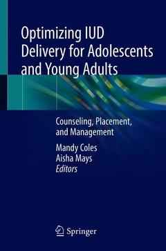 Couverture de l'ouvrage Optimizing IUD Delivery for Adolescents and Young Adults